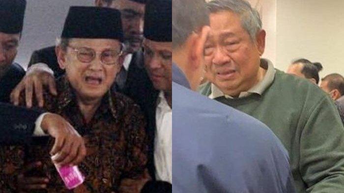 Teringat Momen Habibie dan Ainun, Foto Tangis Dua Presiden Saat Kehilangan Cinta Sejati Disandingkan