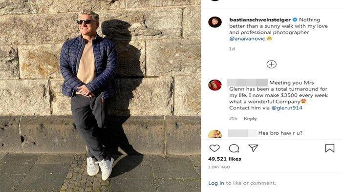 Keberadaan Bastian Schweinsteiger Kini Dicari Fans Usai Posting Foto Hasil Jepretan Ana Ivanovic