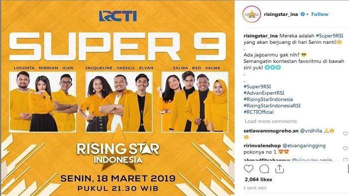 LAGI SERU! Live Streaming RCTI Rising Star Indonesia Super 9, Siapa Tersingkir Malam Ini?