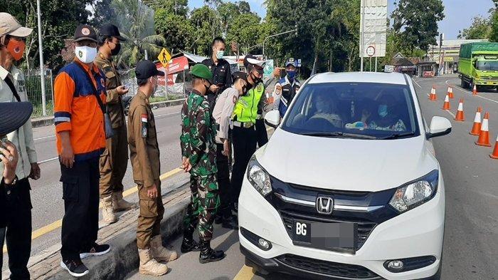 Penyekatan Larangan Mudik di Tol Kayuagung-Palembang, Penebalan Personil Akan Dilakukan Malam Ini