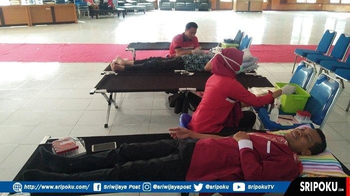 Butuh Darah Hubungi Sahabat Donor Banyuasin, Warga Diajak Donor Darah Peringati HUT RI ke-74