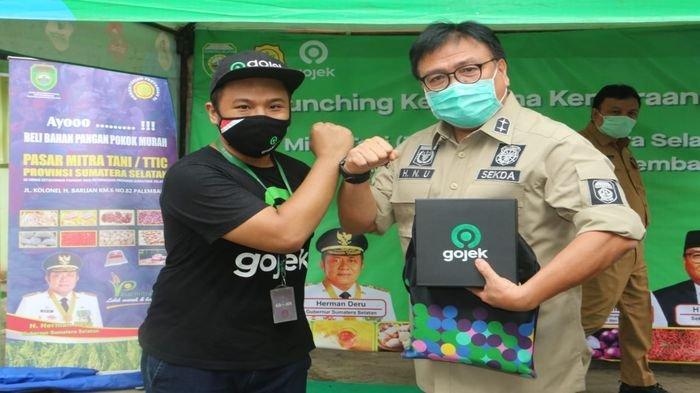 Kerjasama dengan Gojek, Pemprov Sumsel Sediakan Sembako Murah dan Gratis Ongkir
