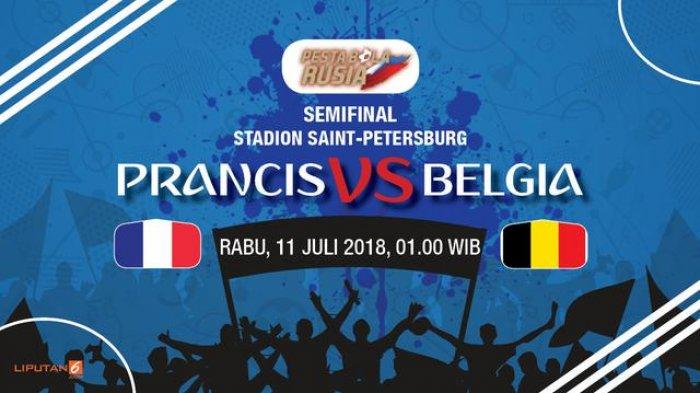 Hasil Pertandingan Prancis vs Belgia, Ini Video Ringkasan Pertandingan dan Gol yang Tercetak