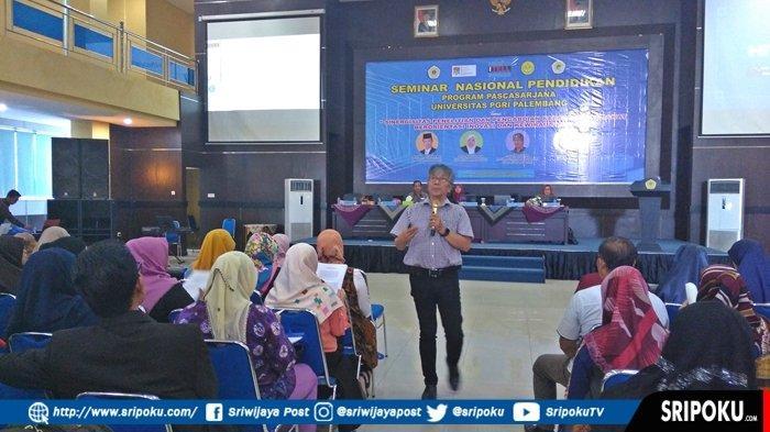 Amalkan 3 Tridharma Perguruan Tinggi Sekaligus, Universitas PGRI Palembang Gelar Seminar Nasional