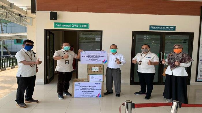 Dukung Tenaga Medis Hadapi Corona, PLN Bantu 5.100 Masker ke RSMH Palembang