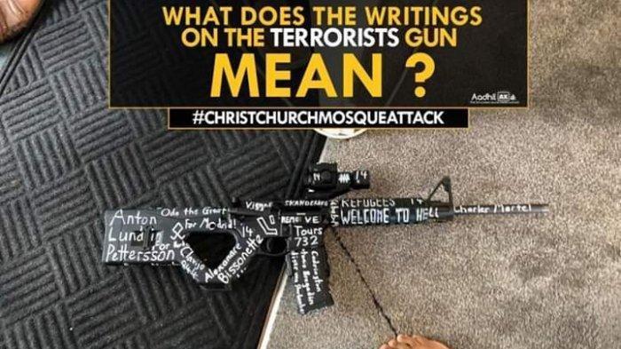 Inilah Identitas Teroris yang Tertulis di Senjata Brenton Tarrant Pelaku Penembakan di Selandia Baru
