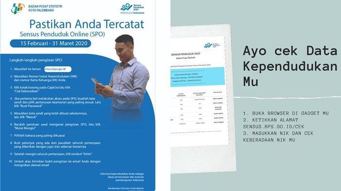TATA CARA Isi Data Sensus Penduduk 2020 Online, Hanya Butuh Waktu 5 Menit, Siapkan Dokumen Ini!