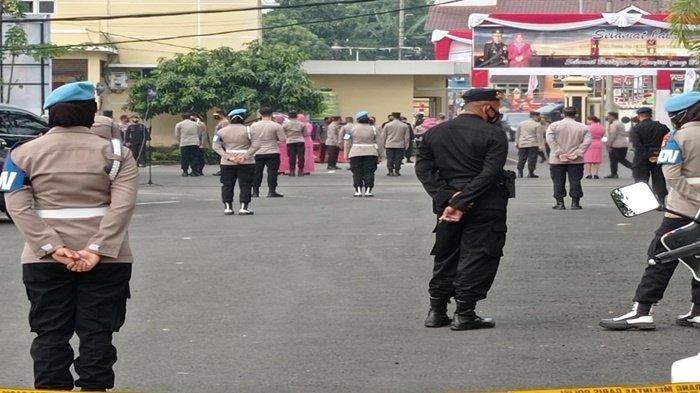 Dipasang Police Line, Sertijab Kapolda Sumsel dari Irjen Eko ke Irjen Toni Digelar Tertutup