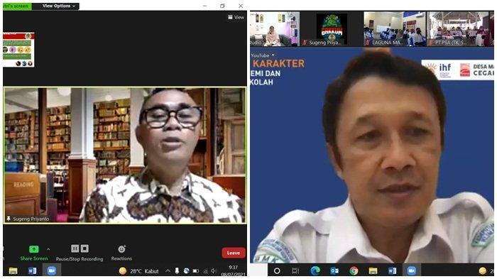 Sesditjen Penegakan Hukum Kementerian Lingkungan Hidup dan Kehutanan (KLHK) Dr Drs Sugeng Priyanto MSi, inset Koordinator Bidang Diseminasi Iklim dan Kualitas Udara - BMKG –Hary Tirto Djatmiko ST