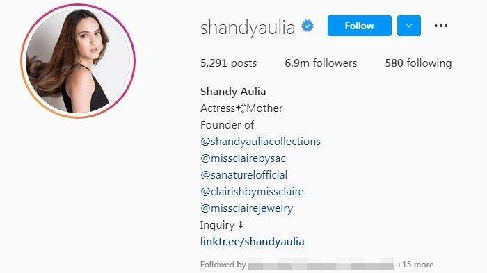 Shandy Aulia hapus foto kebersamaan dengan David Herbowo pada Instagramnya