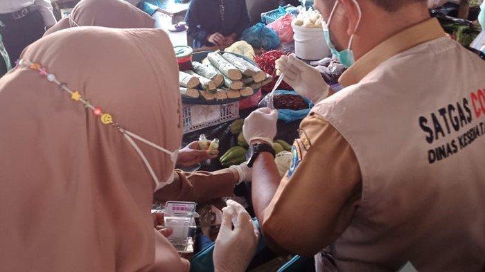 Sidak di Pasar Kayuagung OKI, Satgas Pangan Temukan Mie Berformalin