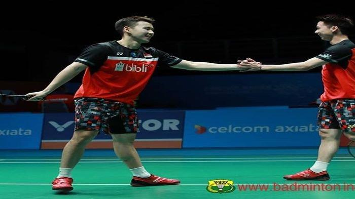Hasil Indonesia Open 2019 : Kalahkan Wakil China Marcus/Kevin Susul Ahsan/Hendra ke Babak Semifinal