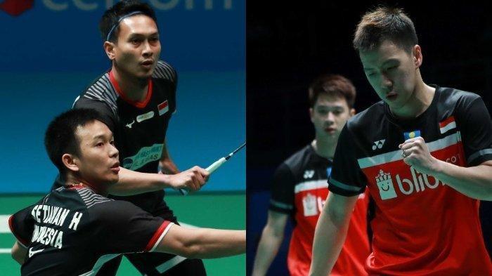 Hasil Japan Open 2019 - All Indonesia Final, Setelah Marcus/Kevin Taklukan Wakil China
