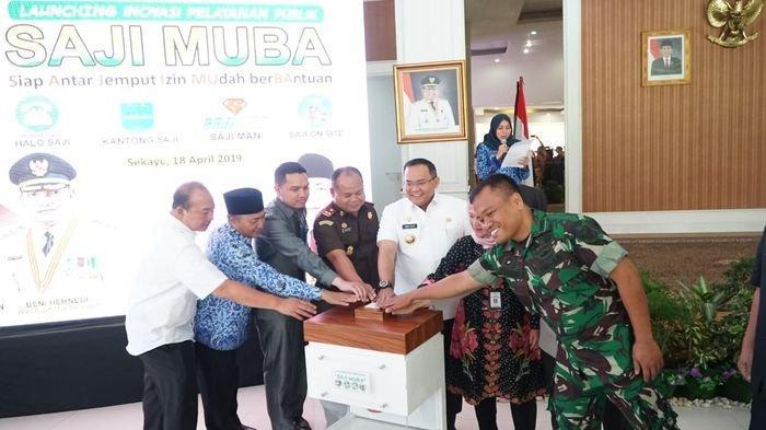 Bupati Dodi Reza Launching Inovasi Pelayanan Publik SAJI MUBA Berbasis Digital