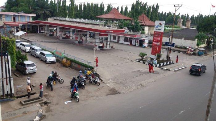SPBU Makam Pahlawan terpaksa ditutup karena jalan ditutup