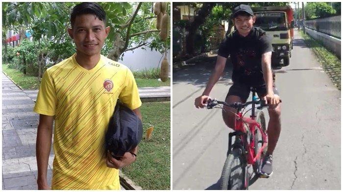 Isi Liburan Pemain Sriwijaya FC Ini Bersepeda Kitari Kota Kediri Setiap Pagi Bareng Alumni Persik