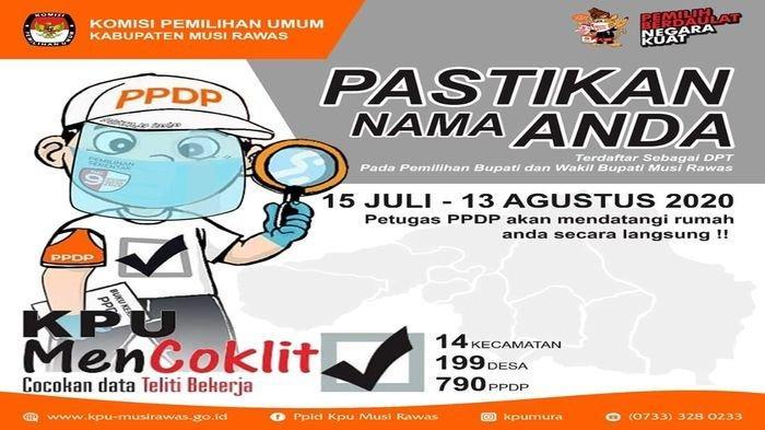 KPU Musirawas Mulai Coklit 15 Juli 2020, Pastikan Nama Anda Terdaftar dalam DPT
