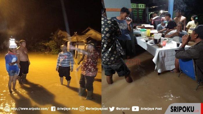 Kota Baturaja Kabupaten OKU Sumatera Selatan Dikepung Banjir Setinggi 1 Meter. Perabotan Rusak Parah
