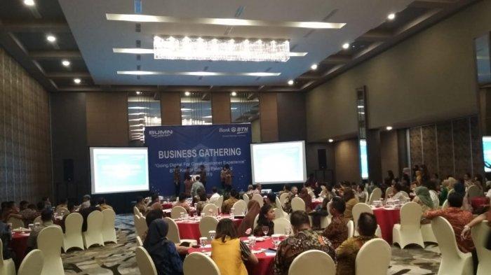 Suasana kegiatan Business Gathering BTN di Hotel Harper Palembang, Kamis (25/04/2019).