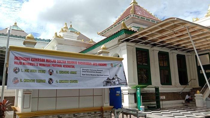 Syarat Sholat Idul Fitri di Masjid Agung Palembang Mulai Pembatasan Jamaah Hingga Patuhi 3 M