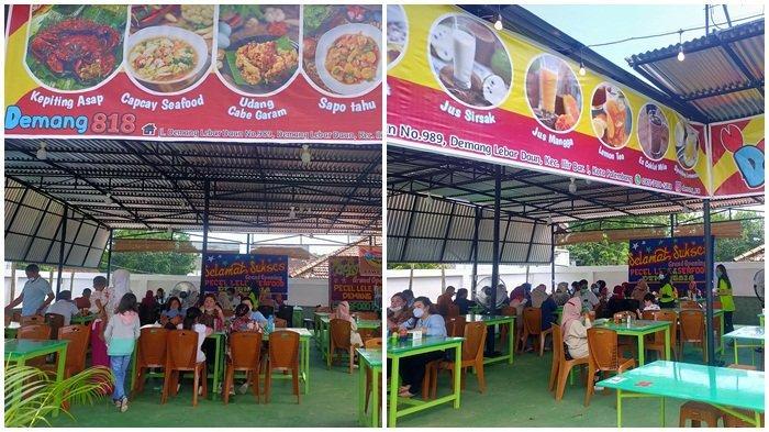 Grand Opening Pecel Lele dan Seafood Demang 818, Makanan Bisa Pesan Melalui Online Grab food