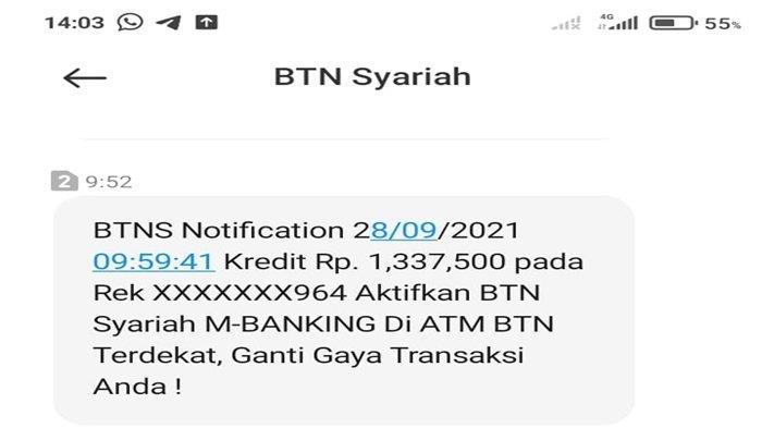 Hore! Dana Subsidi Rumah KPR BTN Syariah Cair Hari Ini, Silakan Cek SMS Banking