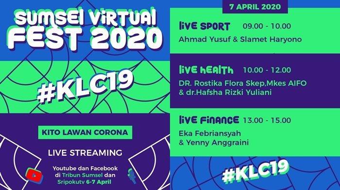 (LIVE NOW)Sumsel Virtual Fest 2020 Hari ke-2,Diskusi Olahraga,Kesehatan & Keuangan di Tengah Pandemi