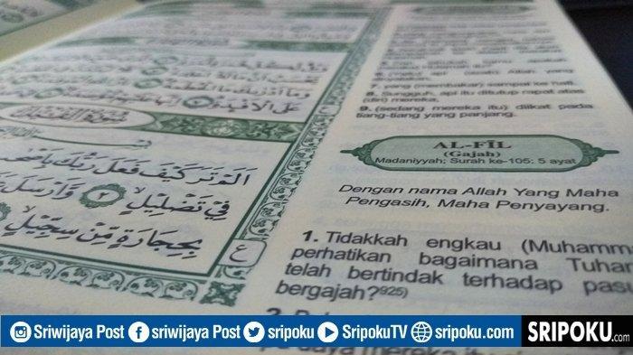 Keutamaan Juz Amma Surat Al-Fil Baca Seratus Kali untuk Menakuti Musuh, Bacaan 5 Ayat & Terjemahan