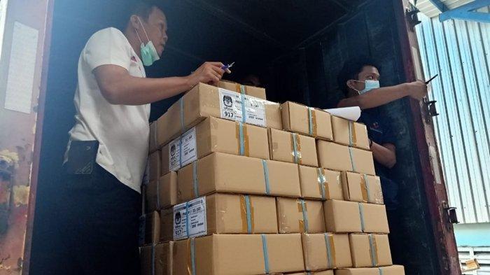 147 Kardus Surat Suara Pilkada Musi Rawas Siap Dikirim dari Surabaya ke Musi Rawas