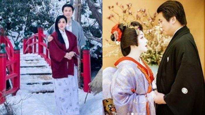 Bikin Pangling, Potret Wajah Syahrini Jadi Pengantin Jepang Disorot, Istri Reino Barack Bak Geisha!