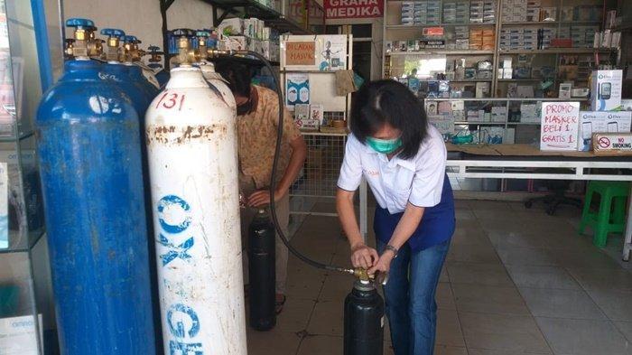 Tabung Oksigen di Palembang Mulai Langkah, Penjual : Banyak Warga yang Isolasi Mandiri