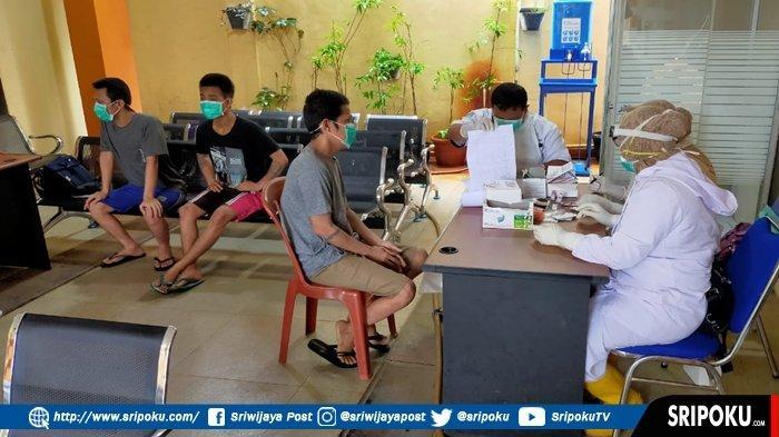 100 Tahanan Polda-Polrestabes Palembang Negatif Covid-19 Hasil Rapid Test, Dikembalikan ke Rutan