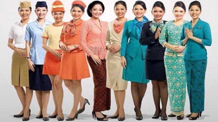 Tak Banyak yang Tahu, Ini Makna di Balik Seragam Pramugari Maskapai Indonesia, No 3 Tanpa Desainer!