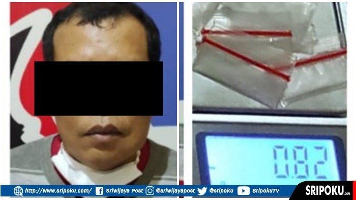TUKANG Jahit di Dekat Gunung Dempo Ini Jadi Pengedar Narkoba, Ditemukan 6 Paket Sabu-sabu Siap Jual