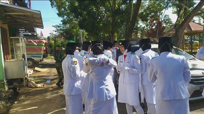 Air Mata tak Terbendung dari Anggota Paskibra Pagaralam, Usai Kibarkan Bendera, Ini yang Terjadi