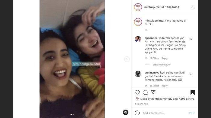 Tangkapan layar video singkat komentar Revi Mariska dan Lina Mukherjee tentang Lesti Kejora, Jumat (24/9/2021)