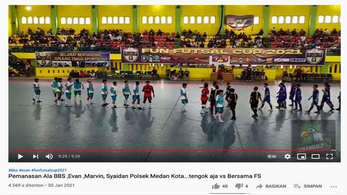 Viral, Turnamen Futsal di Tengah Pandemi Dipenuhi Penonton: Dimenangkan Tim Futsal Polsek