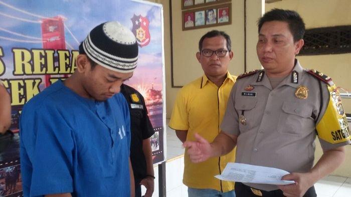 Keroyok Driver Ojol, Taufik Pasrah DIjebloskan ke Sel Tahanan Polsek IT II Palembang