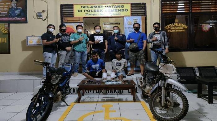 Team Alap-Alap Reskrim Polsek Semendo Ringkus 2 Maling Motor, Petugas Terpaksa Dihadiahi Timah Panas