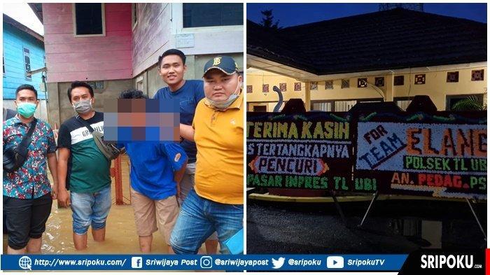 PEDAGANG Pasar Inpres Pendopo Talang Ubi PALI : Terima Kasih Team Elang Polsek Talang Ubi