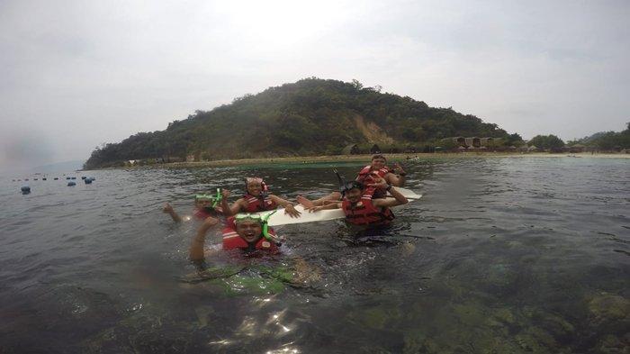 Objek wisata Pulau Tegas Mas Lampung.