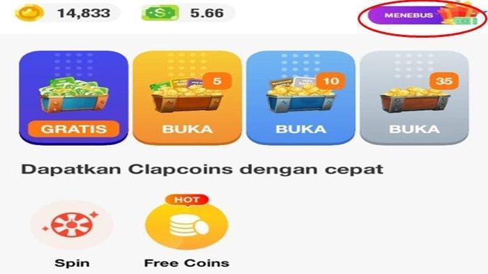 Tempat memasukan kode redeem ClipClaps