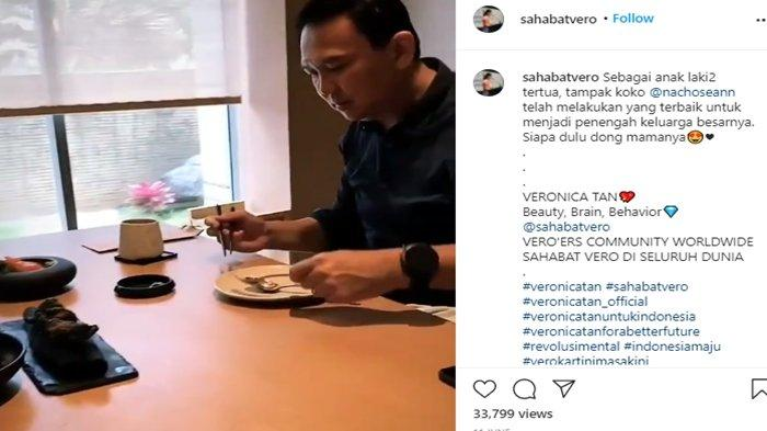 Terlihat Nicholas Sean sedang sibuk merekam pertemuannya dengan Ahok.