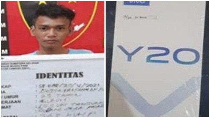 Tersangka Pencuri 3 Handphone Berakhir di Jeruji Besi Polsek Lawang Kidul