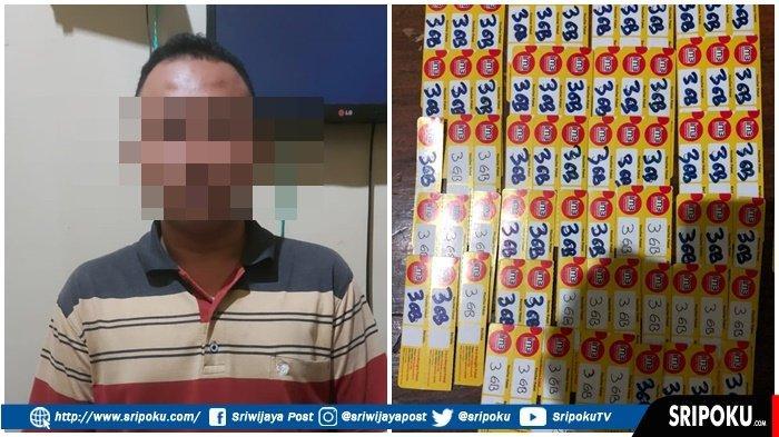 Pura-pura Jadi Sales, Warga Lahat Ini Jual Voucher Kouta Palsu, Pasrah Ditangkap di Pasar Pagaralam