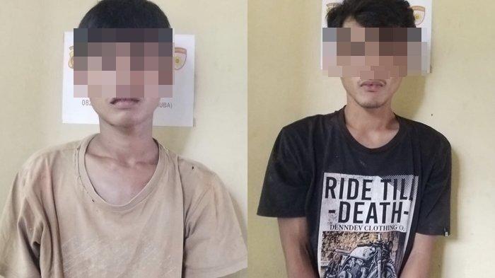 Dua Sekawan Warga Lais Muba Ini Terancam Hukuman 10 Tahun Penjara karena Membawa Senpi dan Sajam