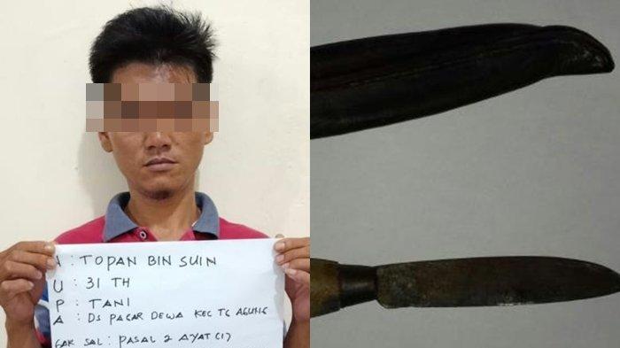 Operasi Lilin Polsek Tanjung Agung, Petugas Amankan Pembawa Sajam, Ancaman Hukuman 12 Tahun