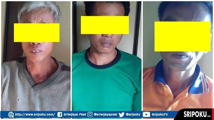 3 Pria Ini tak Berkutik Dikepung Tim Landak Polres Musi Rawas, Jual Beli 4 Ton Buah Sawit Curian