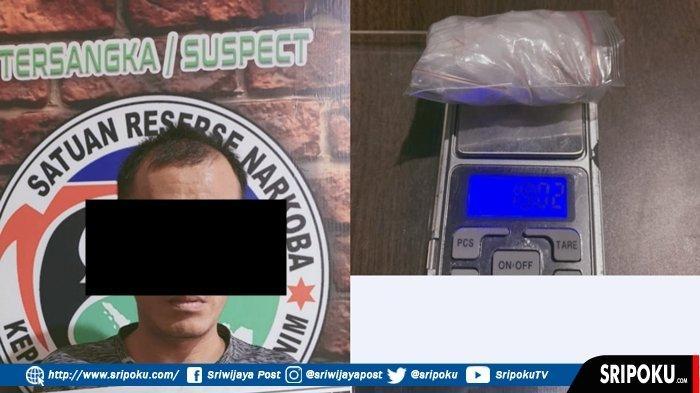 PRIA Ini Kepergok Edarkan Narkoba di Hotel Kawasan Talang Jawa, Barang Bukti Tujuh Paket Sabu-sabu