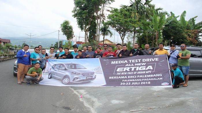 Jadi Saksi Ketangguhan, 20 Media Massa Test Drive All New Ertiga Palembang-Pagaralam